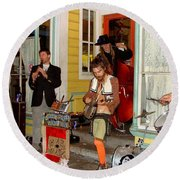 Marigny Musicians Round Beach Towel