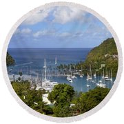 Marigot Bay Round Beach Towel