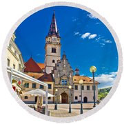 Marija Bistrica Marianic Sanctuary In Croatia Round Beach Towel