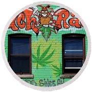 Marijuana 3 Round Beach Towel