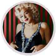 Marilyn 126 D Stripes Round Beach Towel