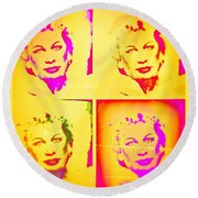 Marilyn Grew Up Round Beach Towel