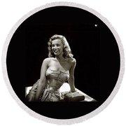 Marilyn Monroe Photo By J.r. Eyerman 1947-2014 Round Beach Towel