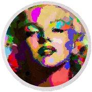 Marilyn Monroe - Abstract Round Beach Towel