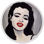 Marilyn Monroe Aka Norma Jean The Beginning Round Beach Towel