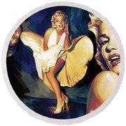 Marilyn Monroe Artwork 3 Round Beach Towel