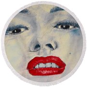 Marilyn Monroe Round Beach Towel by David Patterson