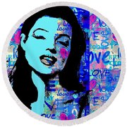 Marilyn Monroe.  Loved And Lost. Loved Again Round Beach Towel