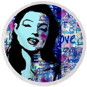 Marilyn Monroe. Loved Lost . Loved Again 2 Round Beach Towel