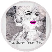Marilyn Monroe Movie Poster Round Beach Towel