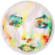 Marilyn Monroe Portrait.5 Round Beach Towel