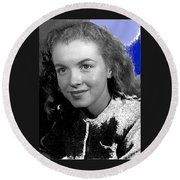 Marilyn Monroe Then Norma Jeane Dougherty Photo By H. Maier Studios Los Angeles Ca C.1943-2014 Round Beach Towel