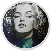 Marilyn Monroe..2 Round Beach Towel by Chrisann Ellis