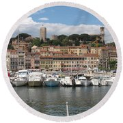 Marina Cannes Round Beach Towel