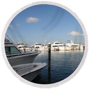 Marina Key West - Harbored Fun Round Beach Towel