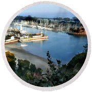 Marina Overlook Round Beach Towel