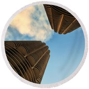 Marina Towers Round Beach Towel
