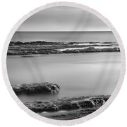 Marine Suprises Round Beach Towel