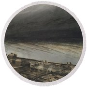 Marine Terrace In Jersey Round Beach Towel by Victor Hugo