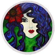Mariposa Fairy Queen Round Beach Towel