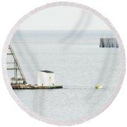 Maritime Dreams... Round Beach Towel