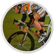 Mark Cavendish Round Beach Towel by Paul Meijering