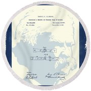 Mark Twain Patent Round Beach Towel