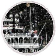 Mark Twain Riverboat Frontierland Disneyland Vertical Sc Round Beach Towel