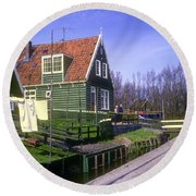 Marken Village Architecture Round Beach Towel