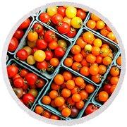 Market Fresh Tomatos Round Beach Towel