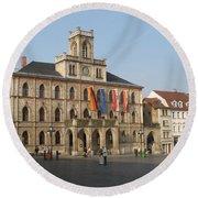 Market Place Weimar - Unesco Heritage Site Round Beach Towel
