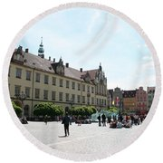 Market Place Wroclaw Round Beach Towel