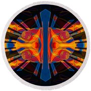 Marking Time Into Space Abstract Spiritual Artwork Round Beach Towel