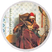 Markos Botsaris Round Beach Towel by Jean Leon Gerome