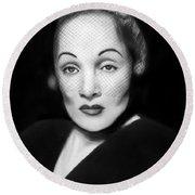 Marlene Dietrich Round Beach Towel by Peter Piatt