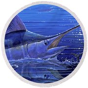 Marlin Mirror Off0022 Round Beach Towel