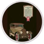 Marmon 34  - Vintage Poster Round Beach Towel