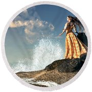 Marooned Round Beach Towel