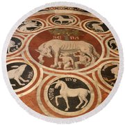 Marple Floor - Cathedral Siena Round Beach Towel