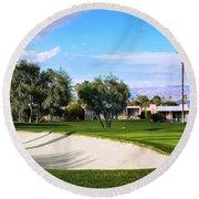 Marrakesh Golf Palm Springs Round Beach Towel