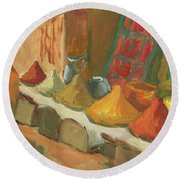 Marrakesh Market Round Beach Towel