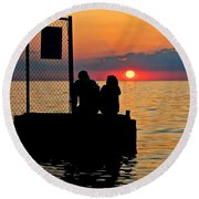 Marry Me Round Beach Towel by Frozen in Time Fine Art Photography
