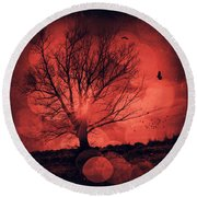 Mars Tree Round Beach Towel