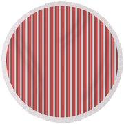 Marsala Stripe 2 Round Beach Towel