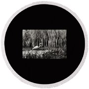 Marsh Hunter Round Beach Towel