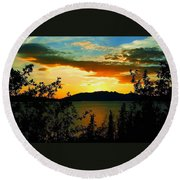 Marsh Lake - Yukon Round Beach Towel