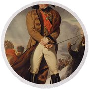 Marshal Michel Ney 1769-1815 Duke Of Elchingen Oil On Canvas Round Beach Towel