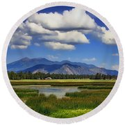 Marshall Lake Round Beach Towel