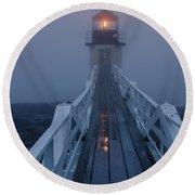 Marshall Point Lighthouse Round Beach Towel