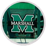 Marshall University Round Beach Towel